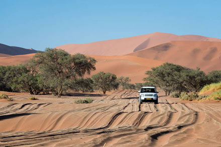 Drive Namibia with Gecko reliable vehicles