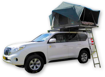 Toyota Prado - SUV car rental vehicle with camping equipment - Group I.