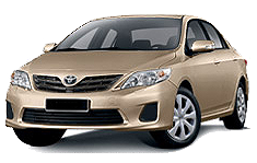Toyota Corolla or similar for hire vehicle
